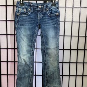 💋Miss Me Raw Hem Cropped Jeans Size 24💋